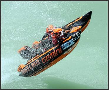 Gemini Inflatable Boat - Orange & Black